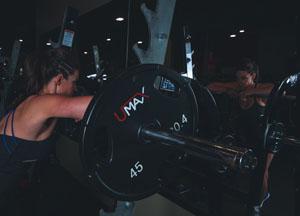 vrouw spieren
